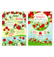 spring holiday sale posters set of flowers vector image vector image