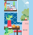 stay at home kitchen interior poster vector image
