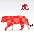Tiger polygon origami zodiac vector image