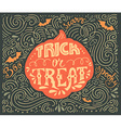 Trick-or-treat lettering vector image vector image