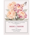 Wedding invitation with chrysanthemums vector image vector image