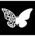 White Butterfly Wedding Place Card vector image