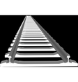 White sleepers and rails vector image