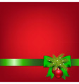 Xmas Green Ribbons With Fir Tree And Ball vector image vector image