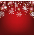 Christmas Red Greeting Card vector image