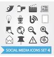 Social media icons set 4 vector image