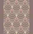 art deco beige pattern vector image vector image