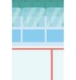 Background of ice hockey stadium vector image vector image