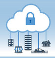 big data cloud computing security concept vector image vector image