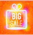 big sale words in box of big vector image vector image