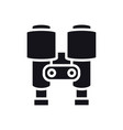 binoculars icon lantern optical spy sign and vector image