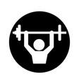 body building pictogram symbol vector image vector image