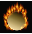 burning circle vector image