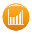 business diagram icon orange vector image vector image