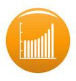 business diagram icon orange vector image vector image