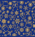 christmas icon seamless pattern winter holiday vector image vector image