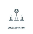 collaboration outline icon thin line element from vector image vector image