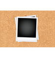 Cork Board With Photo vector image vector image