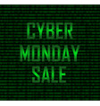 cyber monday sale binary vector image