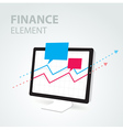 finance diagram icon element computer pc display vector image