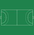 flat handball field green grass field with line vector image vector image