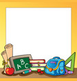 frame with school supplies 1 vector image