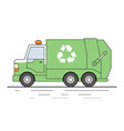 garbage truck isolated on white background vector image vector image