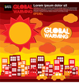 Global warming concept EPS10 vector image