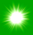 green flash star background vector image vector image