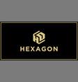 hd hexagon logo design inspiration vector image vector image