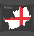 hertfordshire map england uk with english vector image vector image