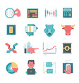 Icons of Online Stocks Trading vector image vector image