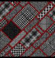 imitation a texture rough canvas seamless vector image vector image