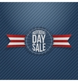 Independence Day Sale textile Tag vector image vector image
