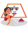 indian bengali woman vector image