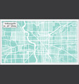 indianapolis usa city map in retro style outline vector image