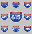 INTERSTATE SIGNS 115-915 vector image vector image