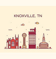 knoxville skyline tennessee usa line style vector image vector image