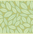 leaves seamless background for your design vector image vector image