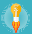 Light bulb idea Modern Flat design concept vector image