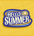 logo for summer season vector image
