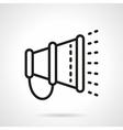 Loudspeaker line simple line icon vector image vector image