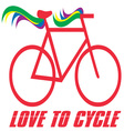 Love to Cycle vector image vector image