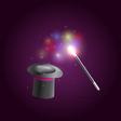 magik wand vector image
