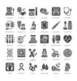 medical check up flat glyph icons health vector image vector image