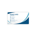 modern blue business name card image vector image