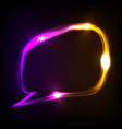 neon speech bubble vector image vector image