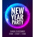 New year party and Christmas party poster template vector image vector image