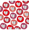 paper heart seamless pattern graphic vector image vector image