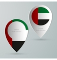 paper map marker for maps united arab emirates vector image vector image